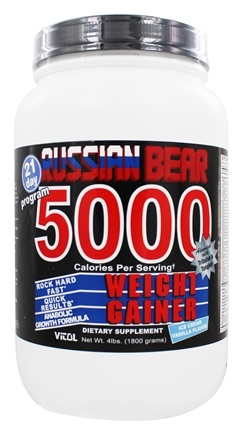 Vitol - Russian Bear 5000 Weight Gainer Vanilla - 4 lbs.