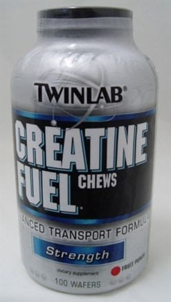 DROPPED: Twinlab - Creatine Fuel Chews Fruit Punch - 100 Chewable Wafers
