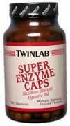 DROPPED: Twinlab - Super Enzyme Caps - 100 Capsules