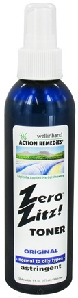 DROPPED: Wellinhand - Zero Zitz Toner Astringent Original - 6 oz. CLEARANCE PRICED
