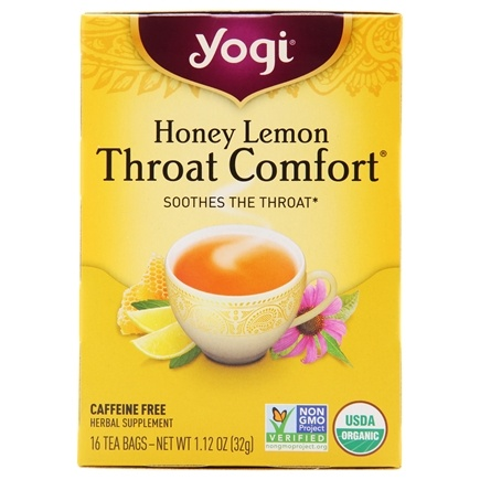 Yogi Tea - Throat Comfort Organic Tea Honey Lemon - 16 Tea Bags