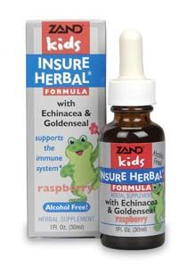 DROPPED: Zand - Kids Insure Herbal Raspberry - 1 oz. CLEARANCED PRICED