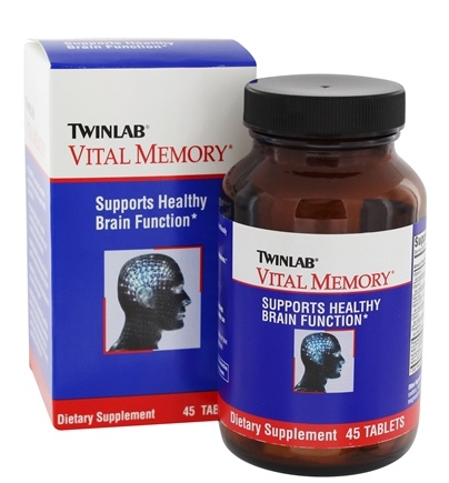 DROPPED: Twinlab - Vital Memory - 45 Tablets CLEARANCE PRICED