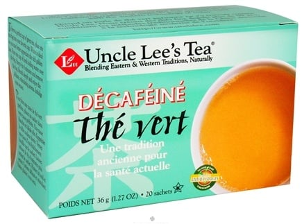 DROPPED: Uncle Lee's Tea - Decaffeinated Green Tea - 20 Tea Bags CLEARANCE PRICED