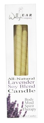 Wally's Natural Products - Soy Blend Multi-Purpose Hollow Candles Lavender - 12 Pack