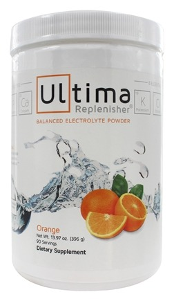 Ultima Health Products - Ultima Replenisher Balanced Electrolyte Powder Drink Orange - 13.97 oz.