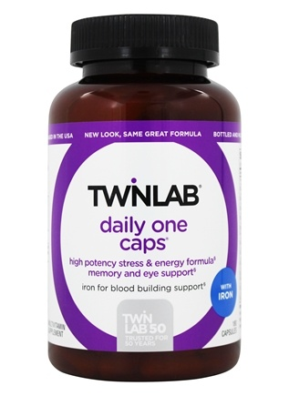 Twinlab - Daily One Caps Multivitamin & Mineral with Iron - 180 Capsules