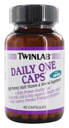 Twinlab - Daily One Caps Multivitamin & Mineral with Iron - 60 Capsules