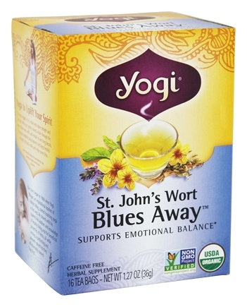Yogi Tea - Saint John's Wort Blues Away Tea with Organic Lavender - 16 Tea Bags