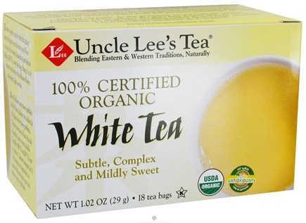 DROPPED: Uncle Lee's Tea - Organic White Tea - 18 Tea Bags