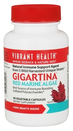 DROPPED: Vibrant Health - Gigartina Red Marine Algae - 90 Vegetarian Capsules