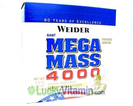 DROPPED: Weider Health And Fitness - Giant Mega Mass 4000 Vanilla - 9.74 lbs.