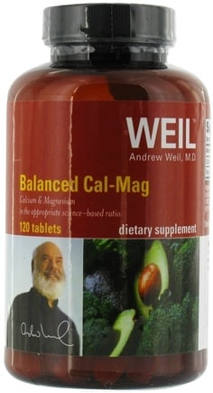 DROPPED: Weil Nutritional Supplements - Balanced Cal-Mag - 120 Tablets CLEARANCE PRICED