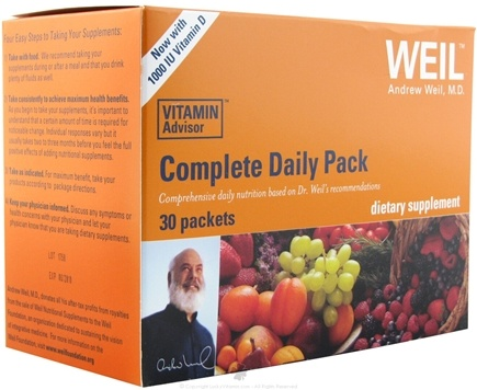 DROPPED: Weil Nutritional Supplements - Complete Daily Pack - 30 Packet(s) CLEARANCE PRICED