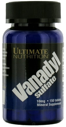 DROPPED: Ultimate Nutrition - Vanadyl Sulfate 10 mg. - 150 Tablets