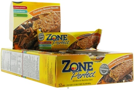 DROPPED: Zone Perfect - All-Natural Nutrition Bar Chocolate Almond Biscotti - 1.76 oz.