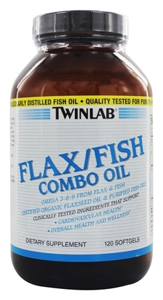 Twinlab - Flax/Fish Combo Oil - 120 Gelcaps