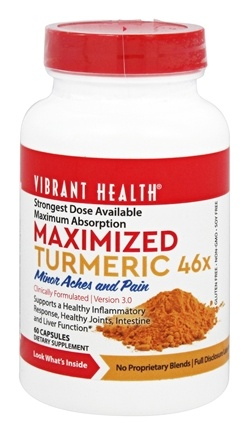 DROPPED: Vibrant Health - Maximized Curcuminoids 1000 mg. - 60 Tablets