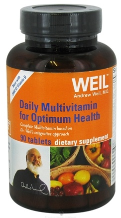 DROPPED: Weil Nutritional Supplements - Daily Multivitamin for Optimum Health with 2000 IU Vitamin D - 90 Tablets