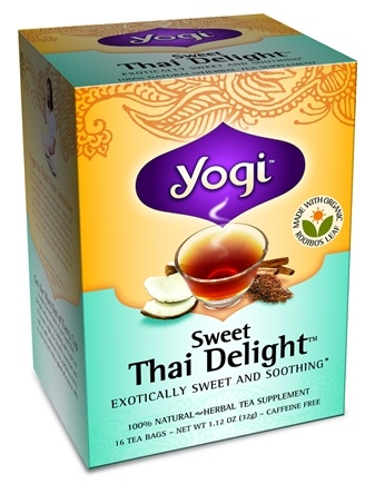DROPPED: Yogi Tea - Sweet Thai Delight Organic Tea Caffeine Free - 16 Tea Bags