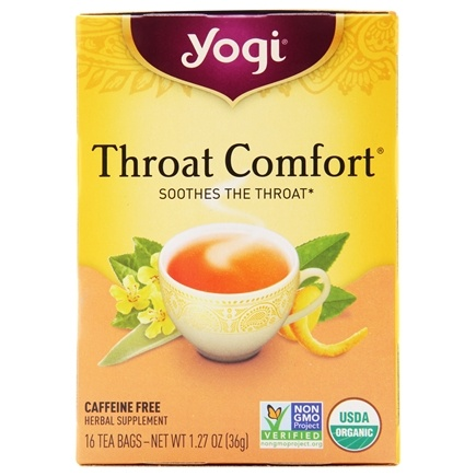 Yogi Tea - Throat Comfort Organic Tea - 16 Tea Bags