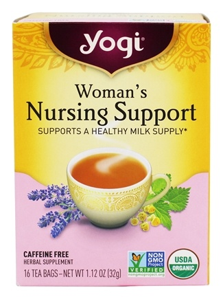 Yogi Tea - Woman's Nursing Support Organic Tea - 16 Tea Bags formerly Woman's Nursing Mom