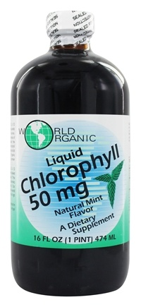 World Organic - Liquid Chlorophyll Mint 50 mg. - 16 oz.