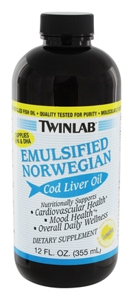 DROPPED: Twinlab - Emulsified Norwegian Cod Liver Oil Lemon - 12 oz. CLEARANCE PRICED