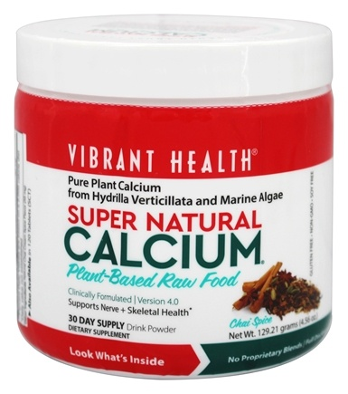 Vibrant Health - Super Natural Calcium 129.21 g. - 4.56 oz.