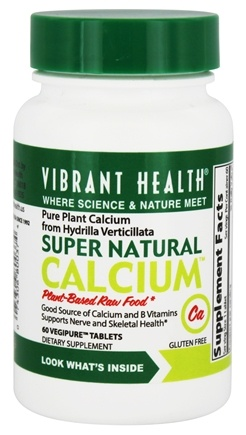 Vibrant Health - Super Natural Calcium - 60 Vegetarian Tablets