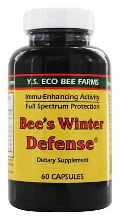 DROPPED: YS Organic Bee Farms - Bee's Winter Defense - 60 Capsules