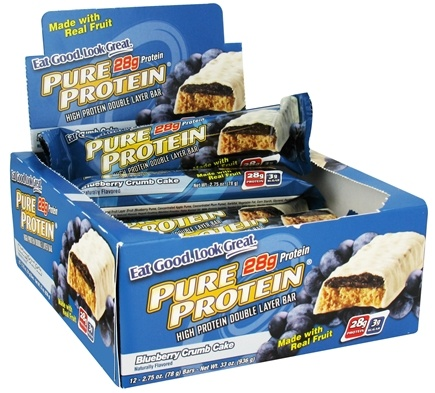 DROPPED: Pure Protein - High Protein Bar Blueberry Crumb Cake - 2.75 oz. CLEARANCE PRICED