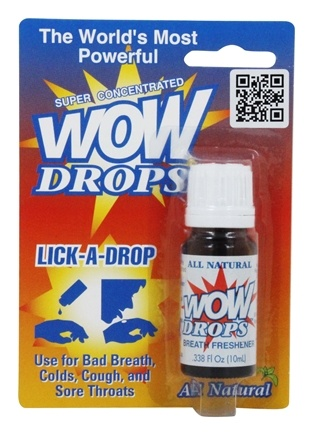 Wow - Lick A Drops - 0.34 oz. Formerly Peppermint Breath Freshener