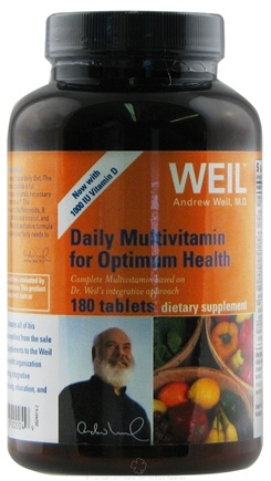 DROPPED: Weil Nutritional Supplements - Daily Multivitamin for Optimum Health with 1000 IU Vitamin D - 180 Tablets CLEARANCE PRICED