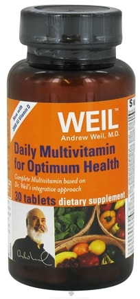 DROPPED: Weil Nutritional Supplements - Daily Multivitamin for Optimum Health with 2000 IU Vitamin D - 30 Tablets CLEARANCE PRICED