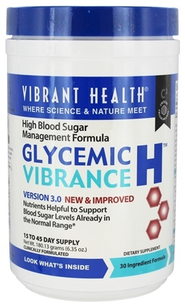 DROPPED: Vibrant Health - Glycemic Vibrance H Powder - 6.35 oz.