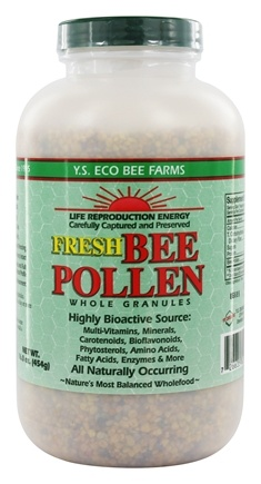 YS Organic Bee Farms - Fresh Bee Pollen Whole Granules - 16 oz.