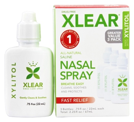 Xlear - Nasal Wash Saline with Xylitol - 3 Pack(s)