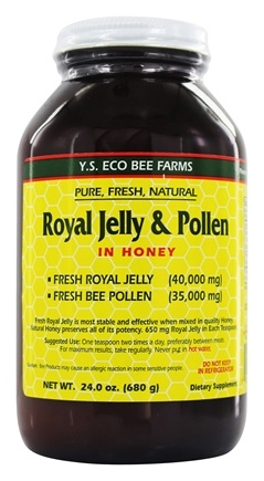 YS Organic Bee Farms - Fresh Royal Jelly Plus Bee Pollen 40000 mg. - 24 oz.