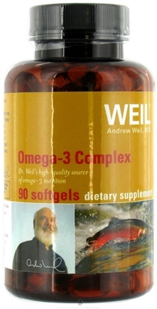 DROPPED: Weil Nutritional Supplements - Omega-3 Complex - 90 Softgels