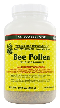 YS Organic Bee Farms - Low Moisture Bee Pollen Whole Granules - 10 oz.