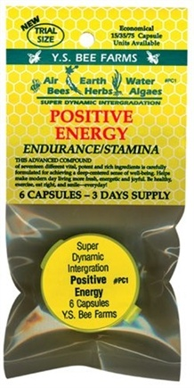 DROPPED: YS Organic Bee Farms - Positive Energy- Trial Size - 6 Capsules
