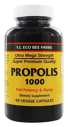 YS Organic Bee Farms - Propolis Caps 1000 mg. - 90 Capsules