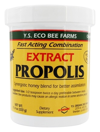YS Organic Bee Farms - Propolis In Honey 110000 mg. - 11.4 oz.