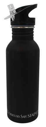 DROPPED: New Wave Enviro Products - Stainless Steel Water Bottle Black Matte - 20 oz. CLEARANCE PRICED