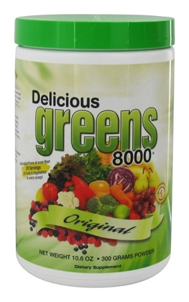 Greens World - Delicious Greens 8000 Original Flavor - 10.6 oz.