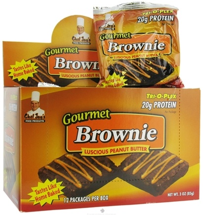 DROPPED: Chef Jay's - Tri-O-Plex Gourmet Brownie Luscious Peanut Butter - 3 oz. CLEARANCE PRICED