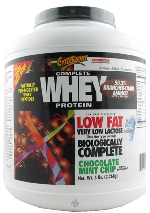 DROPPED: Cytosport - Complete Whey Protein Low Fat Chocolate Mint Chip - 5 lbs.