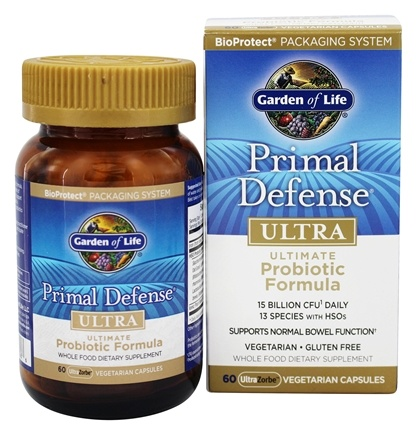 Garden of Life - Primal Defense Ultra Ultimate Probiotic Formula - 60 Vegetarian Capsules