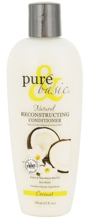 DROPPED: Pure & Basic -  Reconstructing Conditioner Coconut - 12 oz. CLEARANCE PRICED